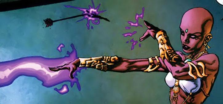 JInx blocks an arrow with a spell