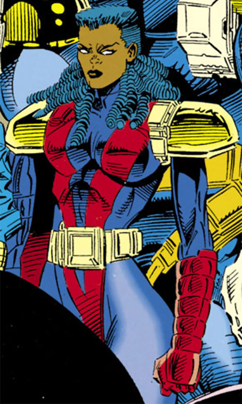 Joanna Cargill of the Acolytes of Magneto (X-Men enemy) (Marvel Comics) (Frenzy) among other Acolytes