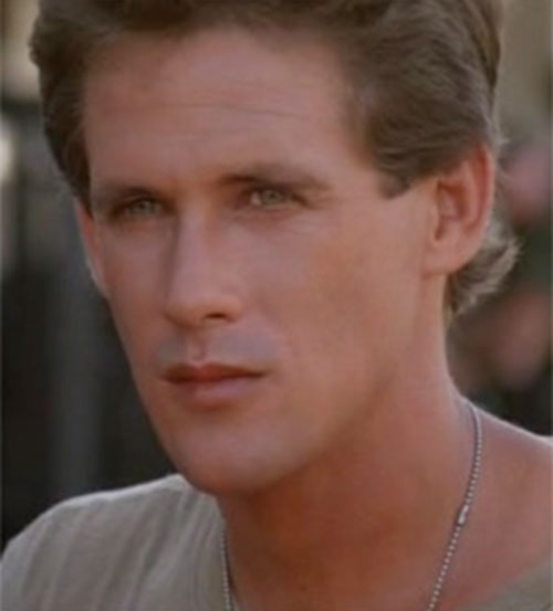 Joe Armstrong (Michael Dudikoff in American Ninja) face closeup