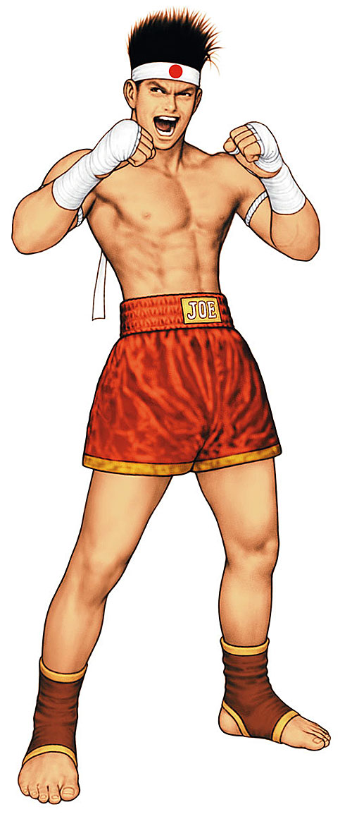 Joe Higashi (Fatal Fury and King of Fighters) taunting his opponent