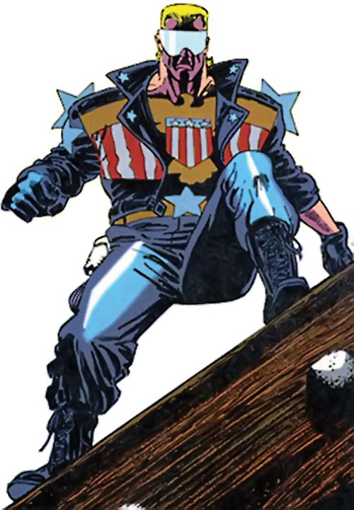 Joe Public (Batman Bloodlines) (DC Comics) standing on a wooden beam low angle