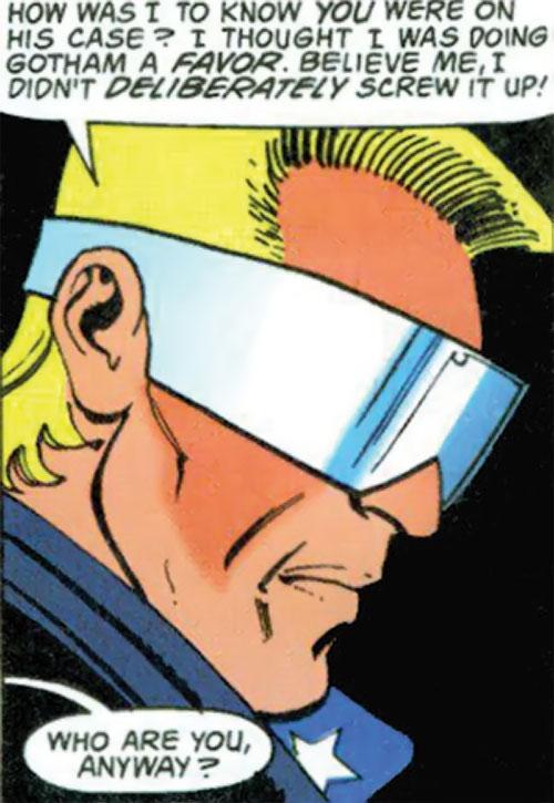 Joe Public (Batman Bloodlines) (DC Comics) face closeup side view