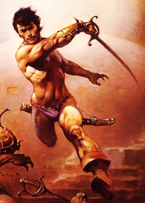 John Carter warlord of Mars by Frazetta