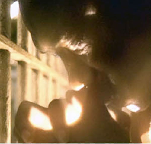 John Coffey (Michael Clarke Duncan in The Green Mile) (Stephen King) with light in his hands