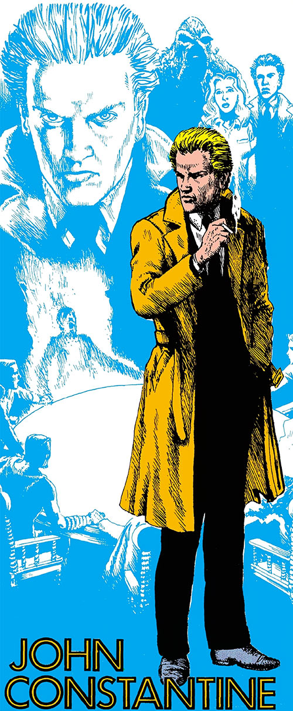 John Constantine - DC Comics' Who's Who 1980s - John Ridgway art