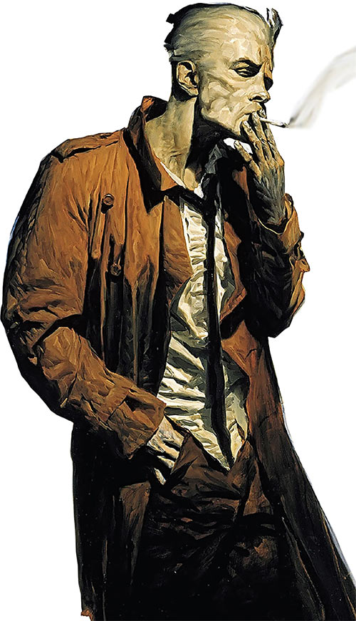 John Constantine (DC Comics vertigo hellblazer) art by Phil hale, edited
