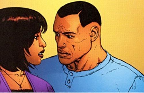 John Doran of Stormwatch PHD (Wildstorm Comics) and his wife