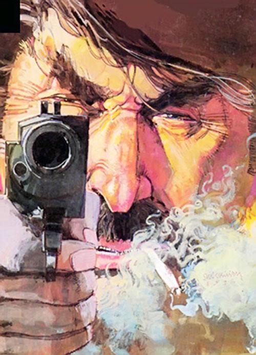 John Garrett in Elektra Assassin (Marvel Comics) face closeup
