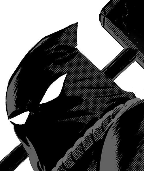 John Henry (The New Frontier) (DC Comics) hood and hammer closeup