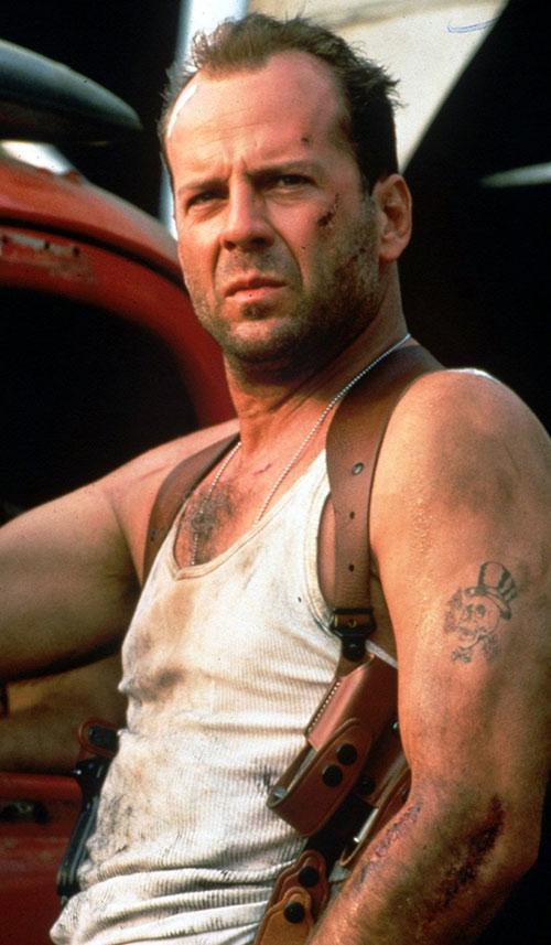 John McClane (Bruce Willis in Die Hard)