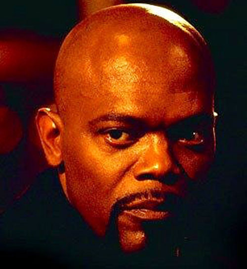 John Shaft (Samuel Jackson) face closeup