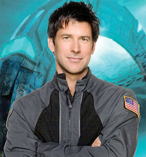 John Shepard (Joe Flanigan in Stargate Atlantis) smiling