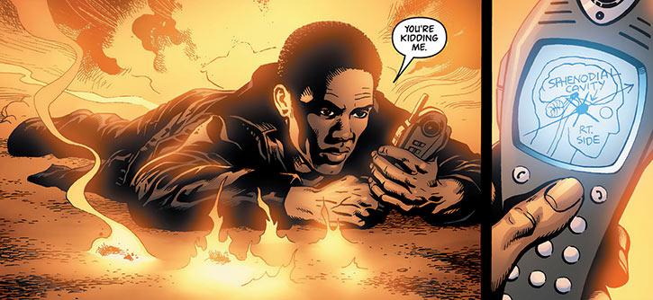 John Stark - Global Frequency comics - Phone instructions