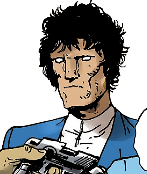 Johnny Alpha Strontium Dog (2000AD) without his helmet