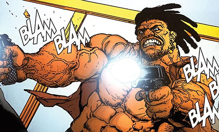 Johnny Too Bad dual-wields pistols