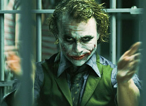 Joker (Heath ledger in the Batman Dark Knight movie) clapping
