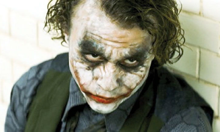The Joker (Heath Ledger) face closeup