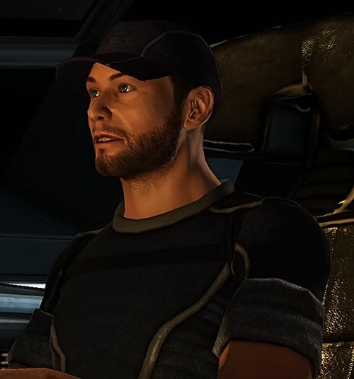 Joker (Mass Effect 1) face closeup side view