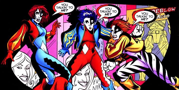 Joker (DC's Tangent Comics) - 3 sisters 3 costumes