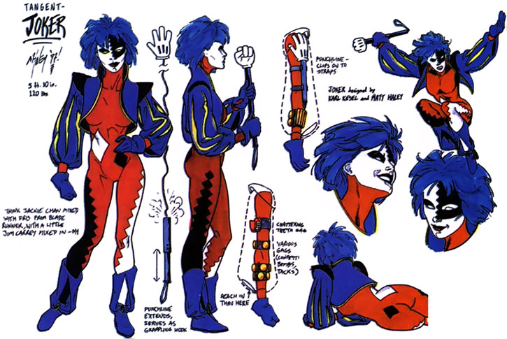 Joker (DC's Tangent Comics) design sheet model
