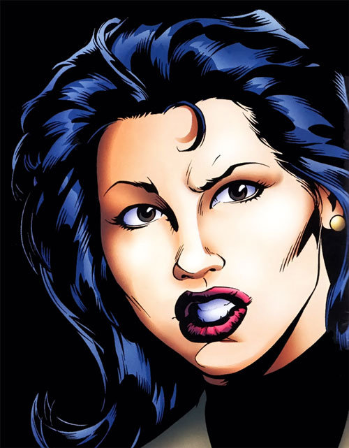 Joker (DC's Tangent Comics) Lori Lemaris face closeup