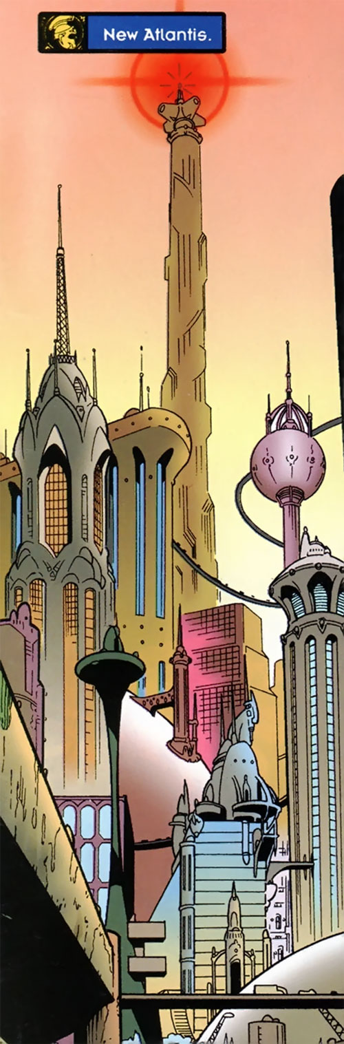 Joker (DC's Tangent Comics) - New Atlantis buildings