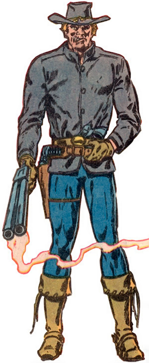 Jonah Hex with a sawed-off shotgun