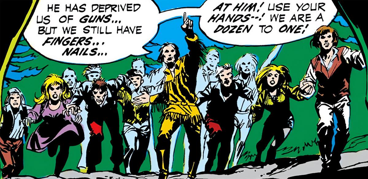 Joshua and the Family (DC Comics) (Green Lantern/Green Arrow) group charge