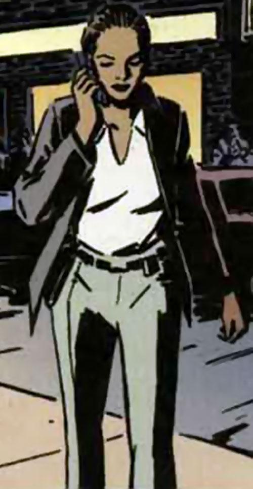 Josie Mac (Batman character) (DC Comics) on the phone