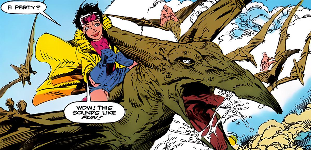 Jubilee (X-Men) (Marvel Comics) (Earliest) pterodactyl rider