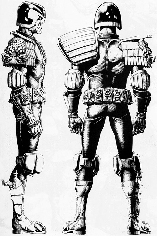 Judge Dredd (2000AD Comics) reference drawing