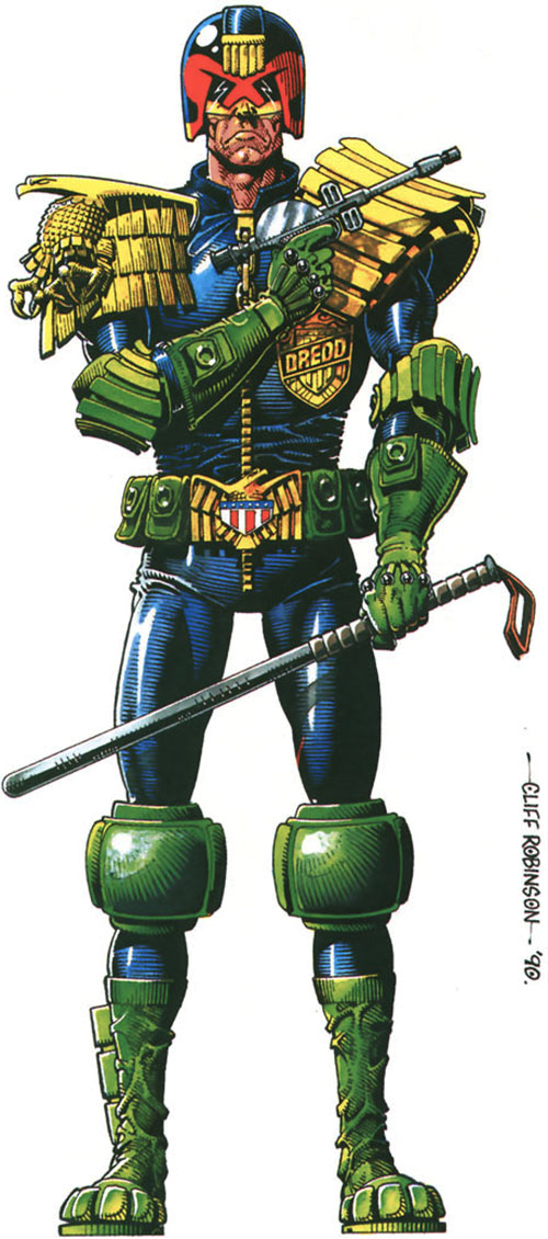 Judge Dredd (2000AD Comics) by Cliff Robinson