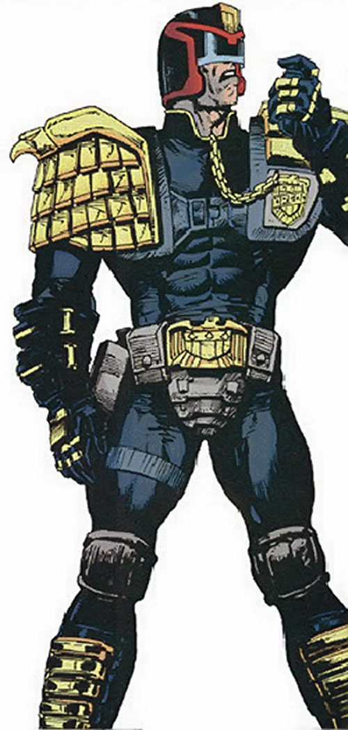 Judge Dredd (2000AD Comics) variant look