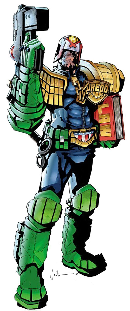 Judge Dredd (2000AD Comics) by Jock, with a legal code