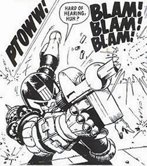 Judge Dredd (2000AD Comics) rolling and shooting