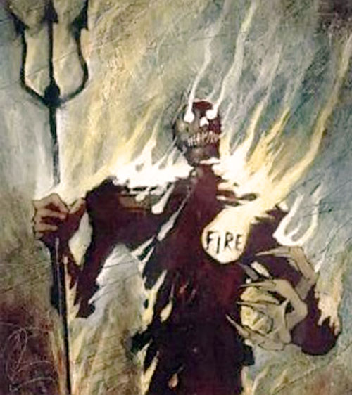 Judge Fire (Judge Dredd enemy) (2000AD Comics) painting