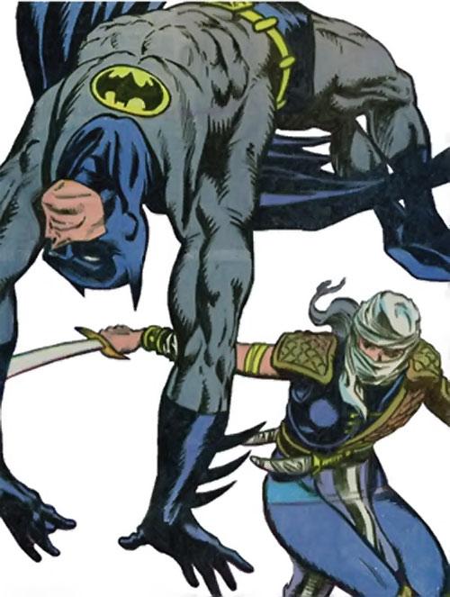 Judith sword of Zion (Suicide Squad character) (DC Comics) vs. Batman