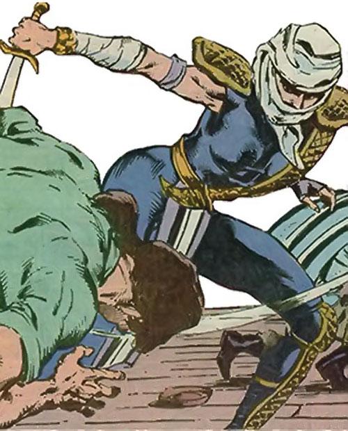 Judith sword of Zion (Suicide Squad character) (DC Comics) slashing a man