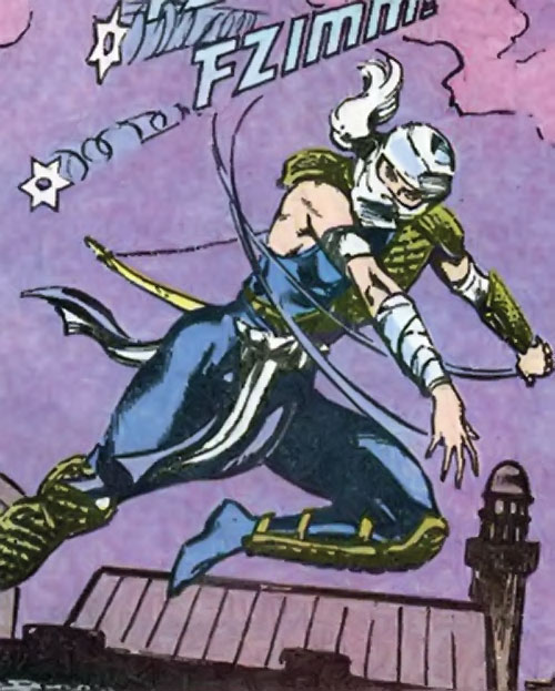 Judith sword of Zion (Suicide Squad character) (DC Comics) throwing shuriken