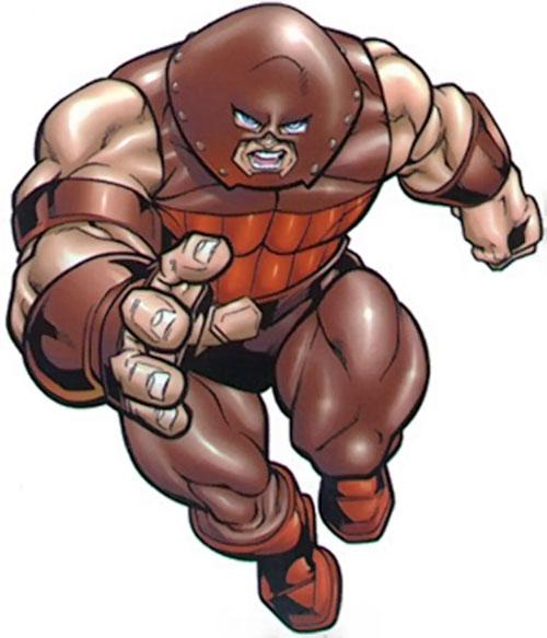 Juggernaut (Marvel Comics) rushing forward