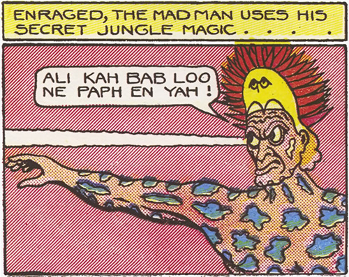 Jungle Demon (Fantomah enemy) (Jungle Comics) uses his evil eye