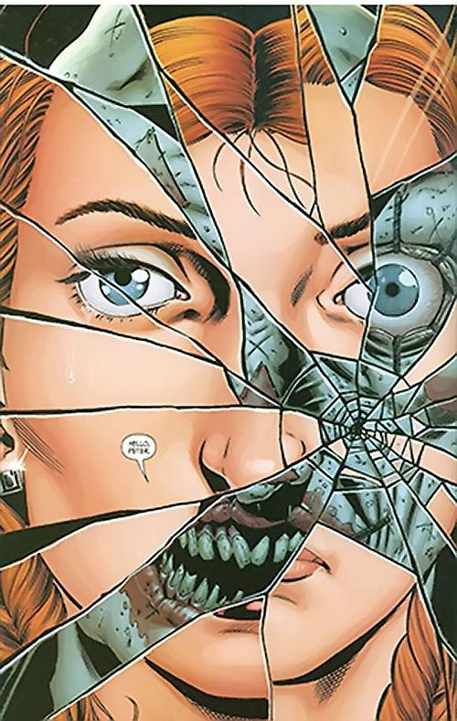 Junior (Secret Six enemy) (DC Comics) (Alex Merkel) fractured face reflection
