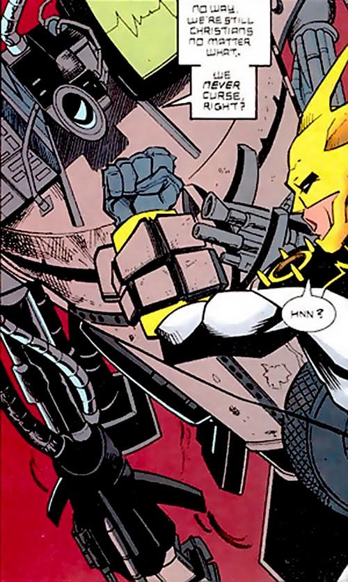 """""""Junk Cyborg"""" vs. Aztek (DC Comics)"""