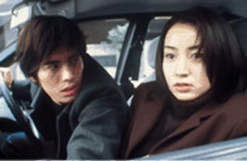 Junko Aoki (Miyuki Mizabe in Firestarter aka Pyrokinesis) scared in a car