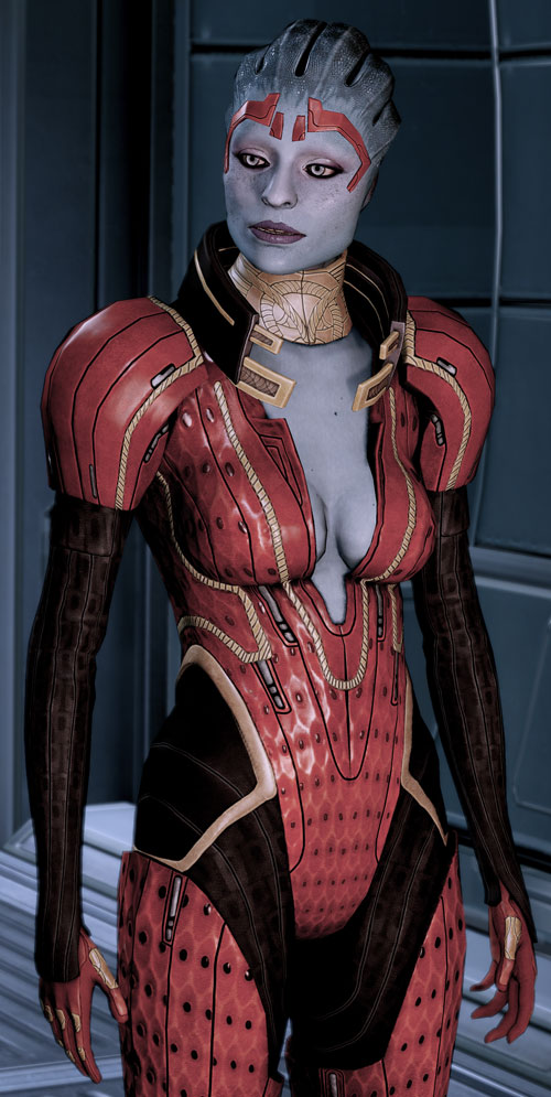 Justicar Samara (Mass Effect) talking