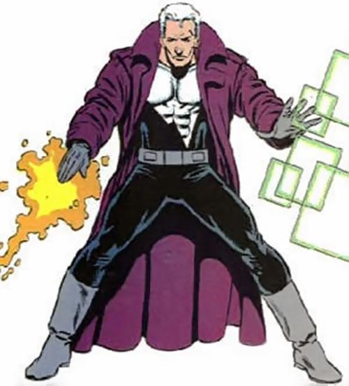 Justice (John Tensen) (Marvel Comics New Universe) manifesting his powers