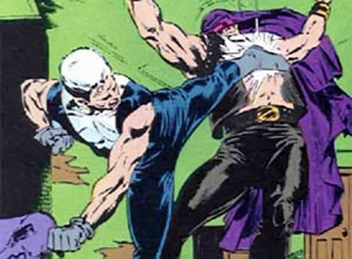 Justice (John Tensen) (Marvel Comics New Universe) delivers a side kick