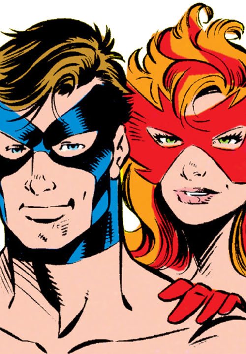 Justice - Marvel Comics - New Warriors- Avengers - Vance Astrovik - Firestar - Faces closeup