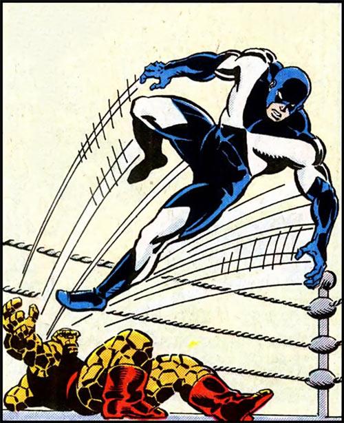 Justice - Marvel Comics - Vance Astrovik - Marvel Boy as wrestler John Mahoney vs. the Thing