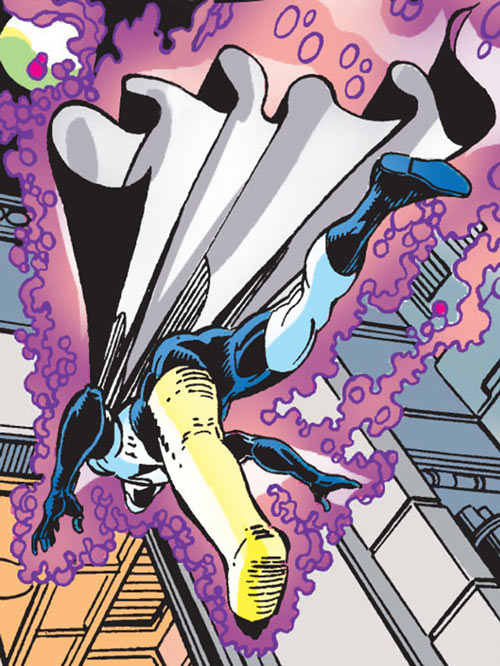 Justice - Marvel Comics - New Warriors- Avengers - Vance Astrovik - Flying with leg in cast
